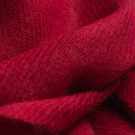 Lille bordeauxrødt cashmere tørklæde