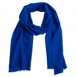 Lille blåt tørklæde i cashmere