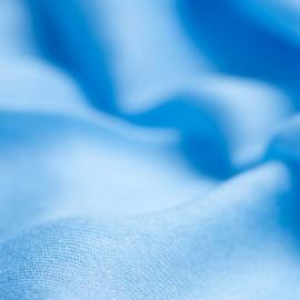 Stort himmelblåt cashmere sjal 200 x 140 cm