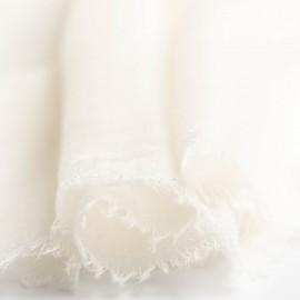 Stort hvidt cashmere sjal 200 x 140 cm