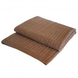 Taupegråt cashmere tæppe
