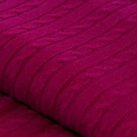 Blommefarvet cashmere tæppe