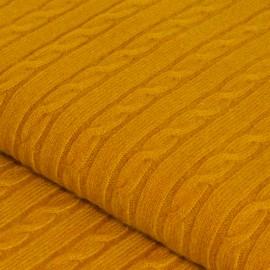 Karrygult cashmere tæppe