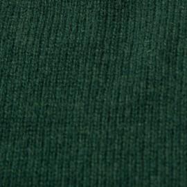 Flaskegrøn halsvarmer i cashmerestrik