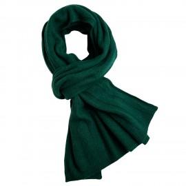 Flaskegrønt halstørklæde i cashmerestrik