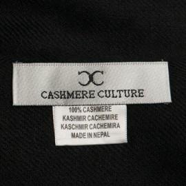 Sort dobbelttrådet twill pashmina sjal