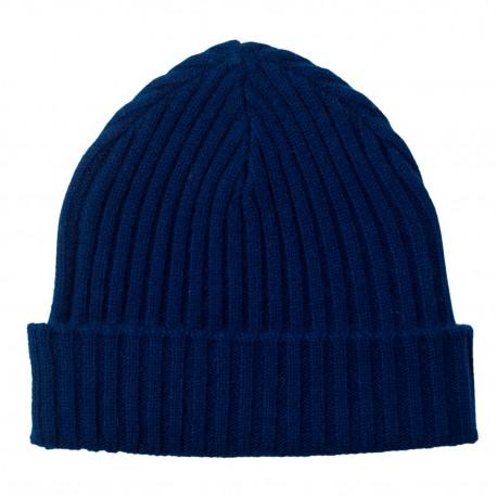 Mørkeblå cashmere beanie