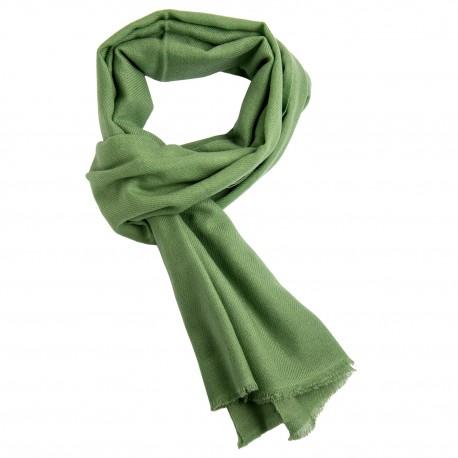 Salviegrønt twillvævet cashmere tørklæde
