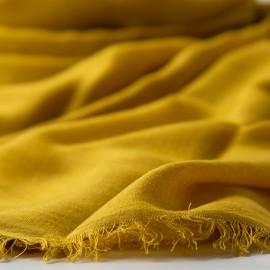 Ekstra stort cashmere/silke sjal i karrygul