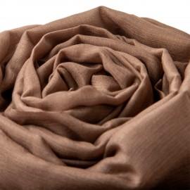 Ekstra stort cashmere/silke sjal i taupegrå