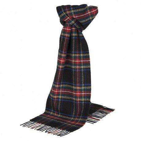 Sort skotskternet tørklæde