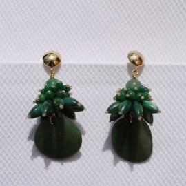 Øreringe grøn