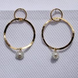 Øreringe med perle