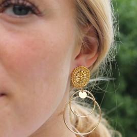 Øreringe gylden