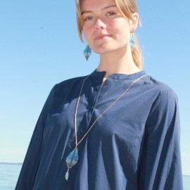 Halssmykke blå