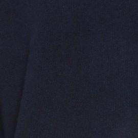 Navy sweater med detaljer i hvid, blå og camel