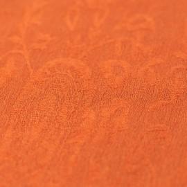 Orange jacquard vævet sjal i cashmere/silke