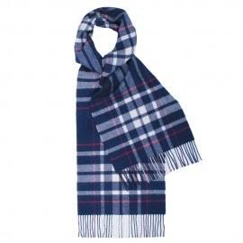 Blåt skotskternet tørklæde