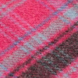 Violet skotskternet tørklæde