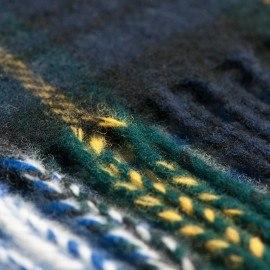 Grønt skotskternet tørklæde
