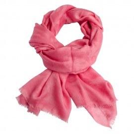 Rosa jacquard vævet pashmina sjal