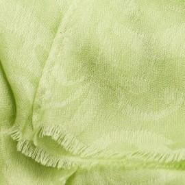 Æblegrønt jacquard vævet pashmina sjal