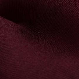 Rødbrunt dobbeltrådet twill pashmina sjal