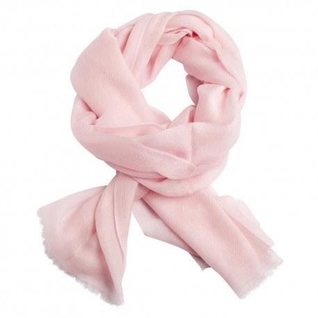Sart rosa dobbeltrådet twill pashmina sjal