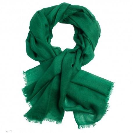 Mørkegrønt dobbeltrådet twill pashmina sjal