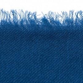Mørkeblåt dobbeltrådet twill pashmina sjal