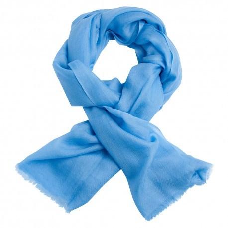Lyseblåt dobbeltrådet twill pashmina sjal