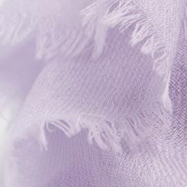Lavendelfarvet dobbeltrådet twill pashmina sjal