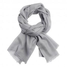 Lysegråt dobbeltrådet twill pashmina sjal