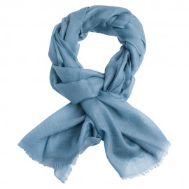 Gråblåt dobbeltrådet twill pashmina sjal