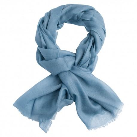Dueblåt dobbeltrådet twill pashmina sjal