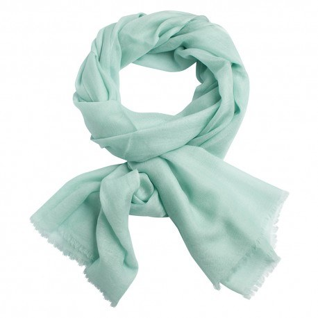 Mintgrønt dobbeltrådet twill pashmina sjal
