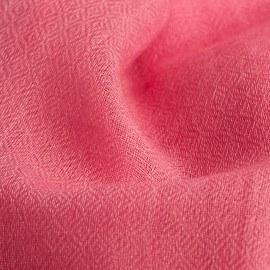 Lys rosa diamant vævet pashmina sjal