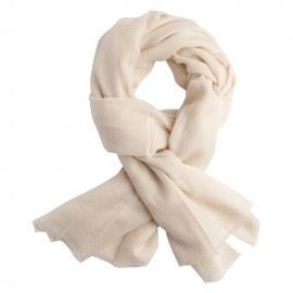 Råhvidt twill vævet pashmina tørklæde