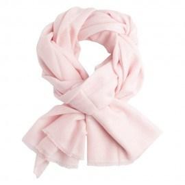 Sart rosa twill vævet cashmere tørklæde