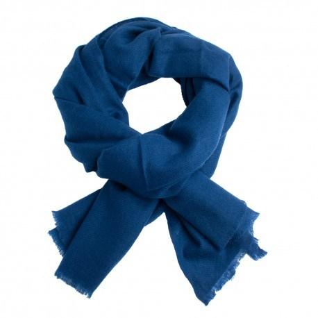 mørkeblåt twill vævet pashmina tørklæde