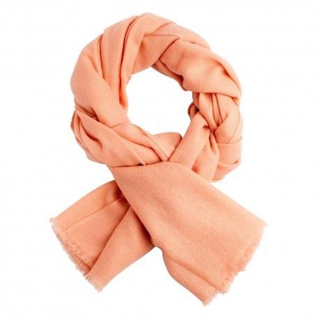Ferskenfarvet twill vævet pashmia tørklæde