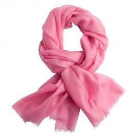 Rosa pashmina sjal i 2 ply lærredsvævning