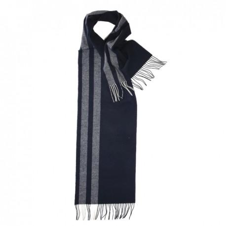 Stribet halstørklæde i blå nuancer