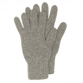 Grå strikkede handsker i lambswool