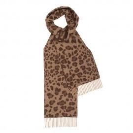 Brunt halstørklæde med dyreprint