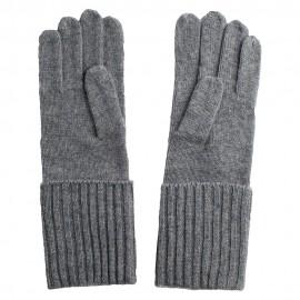 Lysegrå strikkede cashmere handsker