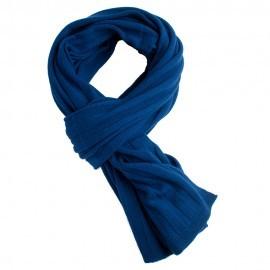 Mørkeblåt strikket halstørklæde i cashmere