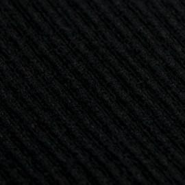 Sort poncho i strikket cashmere