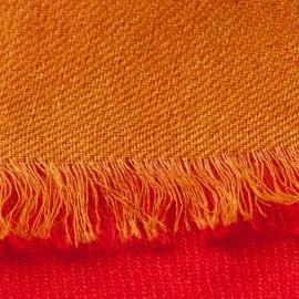 Tofarvet pashmina sjal i rød og gylden