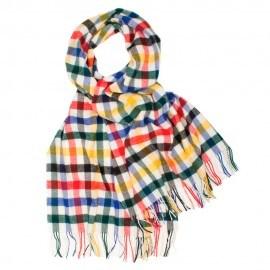 Oversized tørklæde i mangefarvet tern